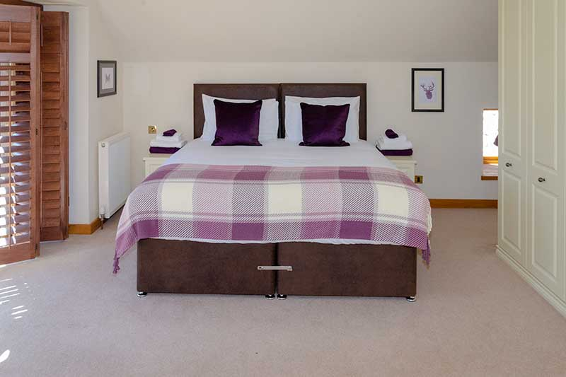 The bedrooms at Newton Steading